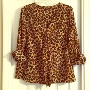 NWOT Dana Buchman Size 16 Animal Print long Sleeve